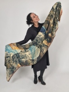 Dagny Abstract Digital Print Scarf by Amet & Ladoue