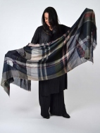 Dea Embroidered Plaid Scarf by Amet & Ladoue