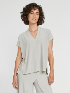 Deep V Short Sleeve Top by Sympli