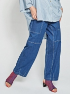 Denim Cargo Pants by Alembika