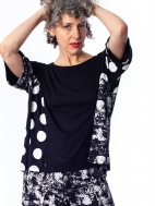 Dot Mixed Media Top by Alembika