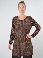 Dot Mosaic Tunic by Comfy USA
