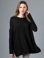 Easy Ballet Neck Pullover by Kinross Cashmere