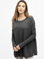 Easy Balletneck Pullover by Kinross Cashmere