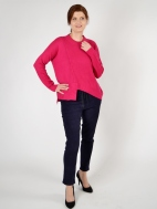 Emma Asymmetrical Hem Sweater by Plush Cashmere