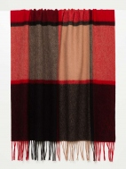 Exploded Plaid Wool Scarf by Kinross Cashmere