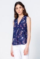 Floral Sleeveless Blouse by Ivko