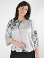 Floral/Stripe Top by Alembika