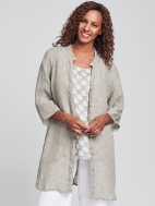 Good Day Gauze Linen Jacket by Flax