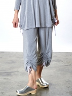 Grey French Terry Ruched Pant by Bryn Walker