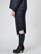 Grid Pencil Skirt by Banana Blue