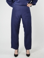 Heavy Linen Flat Front Pant by Bryn Walker