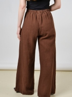 Heavy Linen Long Full Pant by Bryn Walker