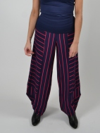 Indigo Stripe Punto Pants by Alembika