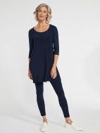 Jersey Motion Trim Raglan Sleeve Tunic by Sympli