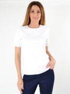 Jewel Neck Short Sleeve by Judy P