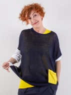 Knit Colorblock Top by Chiara Cocol