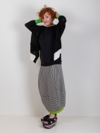 Knit Striped Balloon Skirt by Chiara Cocol