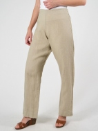 Light Linen Flat Front Pant by Bryn Walker