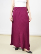 Light Linen Long Bias Skirt by Bryn Walker