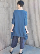 Light Linen Ruched Kay Cardigan by BRYN WALKER