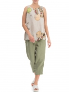 Linen Abstract Print Top by Grizas