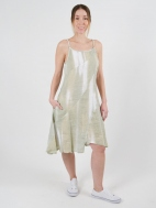 Linen Brushstroke Dress by Inizio