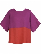 Linen Color Block Tee by Alembika
