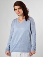 Linen Hi Lo Pullover by Kinross Cashmere