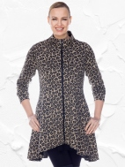 Lisa Leopard Zip Jacket by Comfy USA