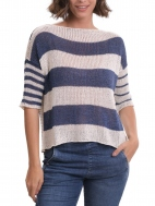 Luxe Reversible Striped Sweater by Alembika
