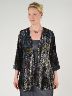 Medallion Print Cut Velvet Jacket by Aris A.
