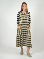 Metallic Striped Dress by Alembika