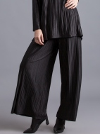Micropleated Satin Evening Pant by Alembika