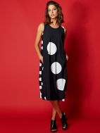 Mixed Dots and Stripes Bubble Dress by Alembika