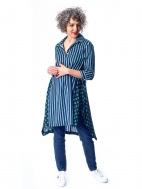 Mixed Pattern Tunic Dress by Alembika