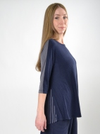 Mixed Stripe Swing Top by Alembika
