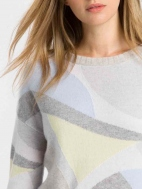Mod Intarsia Pullover by Kinross Cashmere