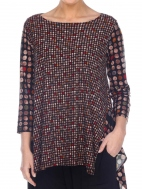 Mosaic Dot Vancouver Tunic by Comfy USA