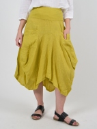 Mustard Linen Skirt by Inizio