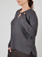 Naples Oversized Contrast Sweater by Plush Cashmere