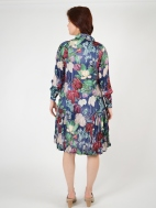 Navy Blossom Shirt Dress by Alembika
