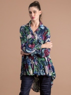 Navy Blossom Tunic by Alembika
