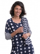 Navy Dot Cardigan by Alembika