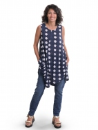 Navy Dot Pocket Tunic by Alembika