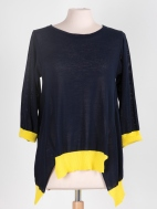 Notched Hem Sweater by Chiara Cocol