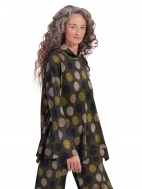 Olive Dots Mock Neck Top by Alembika