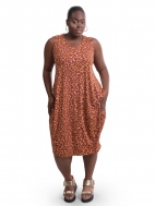 Orange Confetti Print Dress by Alembika