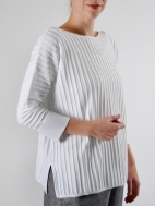 Ottoman Rib Pullover by Kinross Cashmere