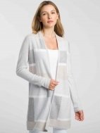 Pale Intarsia Cardigan by Kinross Cashmere